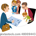 Family building a house 48009443