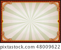 Vintage Blank Circus Poster Sign 48009622