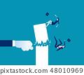 Fist destroy success. Concept business vector 48010969