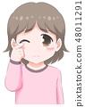 眼泪汪汪的女孩·粉红色 48011291