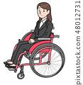 일본 유니버설 매너 협회 감수 소재 휠체어 48012731