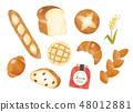 麵包各種水彩畫 48012881