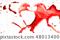 Splashes of color forming heart 48013400