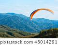 降落伞 山峰 滑翔机 48014291