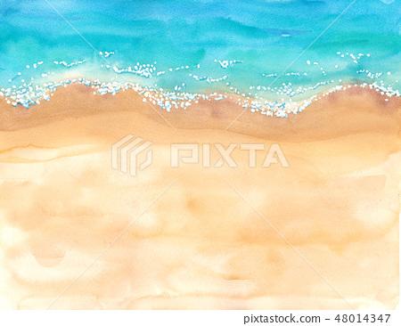 해변의 부감 이미지 48014347