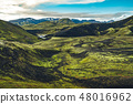 Surreal and colorful landscape of Iceland 48016962