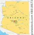 Arizona, United States, political map 48018673