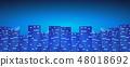 Bright night city background. 48018692