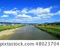 야마토 푸른 하늘과 흰 구름 48023704