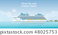 Cruise liner passenger ship. 48025753