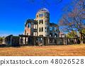 Hiroshima Atomic Bomb Dome on a sunny day 48026528