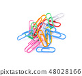 Paper clips isolated on white background 48028166