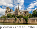 Notre-Dame de Paris cathedral in Paris. 48029643