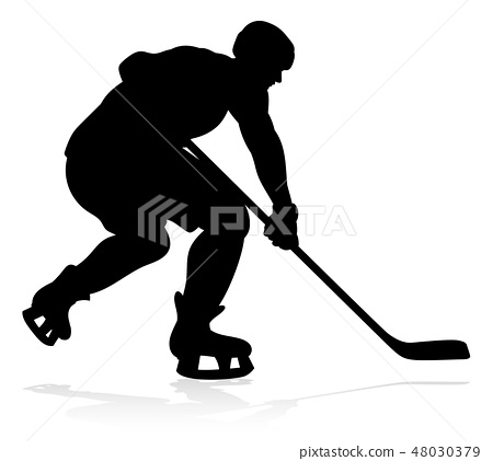 Hockey Sports Player Silhouettes 48030379