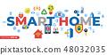 Digital vector smart and digital home 48032035