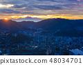 이나 사산에서 산맥의 새벽 [나가사키 현 나가사키시] 48034701