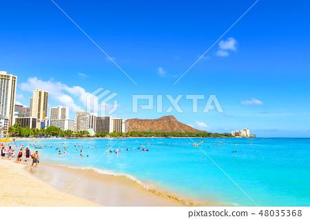 Waikiki Beach Hawaii Stock Photo 48035368 Pixta