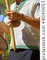 Brazilian musical instrument called berimbau 48040055