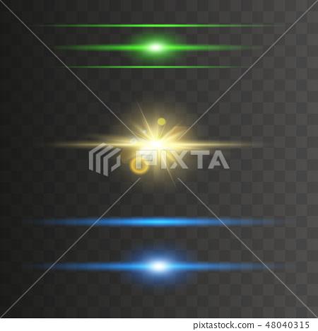Glowing neon lights line  48040315
