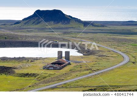 Seltun area aerial landscape, south Iceland  48041744