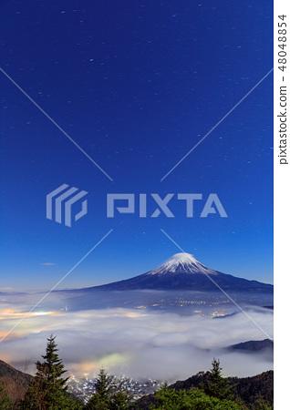 후지산과 구름의 공연 (笠雲 · 운해) 48048854