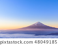 Sea of clouds Mt. Fuji _ great view of the morning glow 48049185