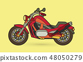 Red Motorbike side view graphic vector 48050279