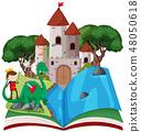 Open book fairy tale  theme 48050618