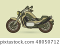 Green Motorbike side view graphic vector 48050712