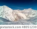 Snowy winter mountains in sun day. Caucasus Mountains, Georgia, from ski resort Gudauri 48051230
