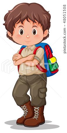 A boy scout wearing uniform 48051508