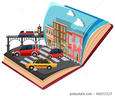 Open book urban traffic 48051527