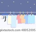 夜洗衣例證 48052095