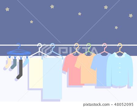 Night laundry illustration 48052095