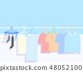 Illustration of laundry on a sunny day 48052100