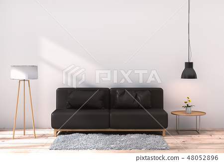 Living room interior in modern style 48052896