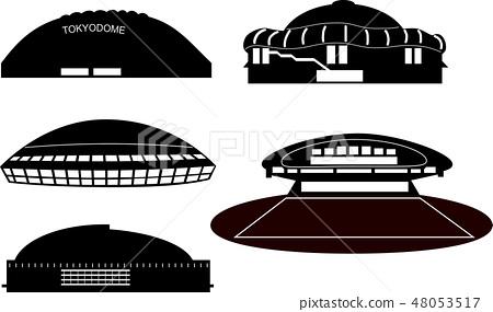 Five major dome silhouette 48053517