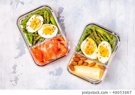 Healthy Balanced Lunch Box Ketogenic Diet Lunch Stock Photo 48053867 Pixta