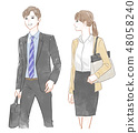 Male and female office worker 48058240