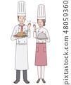승리 포즈의 요리사 48059360