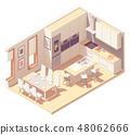 Vector isometric kitchen interior 48062666