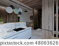 stylish modern interior of the house, apartment 48063626