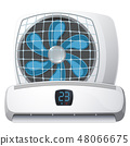 Air conditioner system on white background 48066675