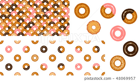 Donut Qinghai wave & dot pattern 48069957