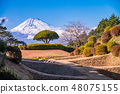 (Mishima-shi, Shizuoka prefecture) Yoshinaka Castle Ruins Park Screens Hori Mt. Fuji 48075155