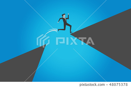 Make risk by jump over the cliff 48075378