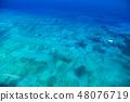 """""""하와이""""와이키키 비치 앞바다의 넓은 바다 """"항공 사진"""" 48076719"""