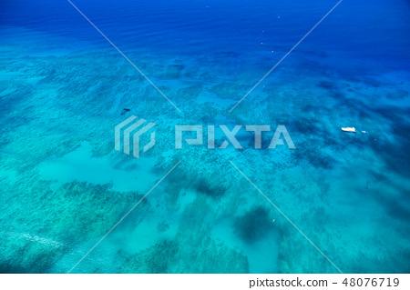 """""""夏威夷""""威基基海岸外的大洋""""航拍照片"""" 48076719"""