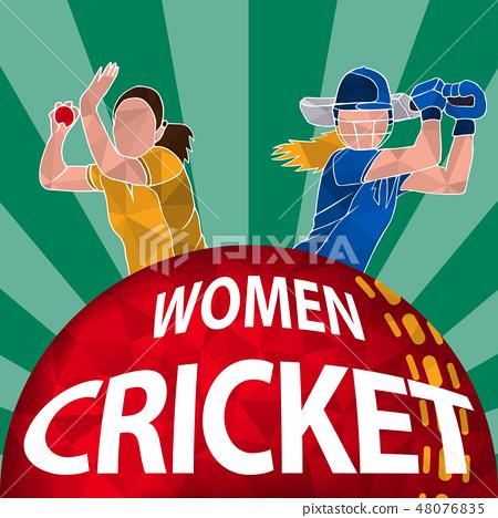 Cricket women poster  48076835
