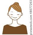 입가의 점이 매력 포인트 젊은 여성의 일러스트 48077263